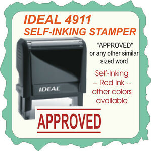 Approved Custom Made Trodat Ideal Small Size Rubber Stamp 4911 Red Ink
