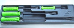 Snap On Spbs704ag 4pc Instinct Green Striking Prybar Pry Bar Set
