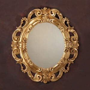 Exquisite Carved Wood Gold Leaf Mirror Made In Italy 36 5 X 40 5 H