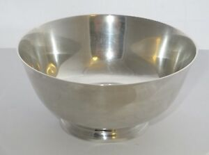 Antique Shreve Crump Low Sterling Silver Bowl Paul Revere Reproduction