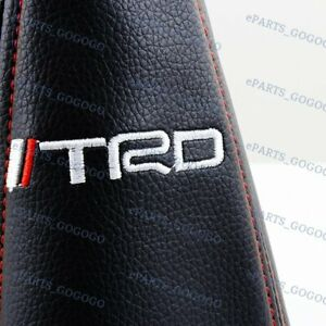 Pvc Leather Red Stitch Shift Knob Shifter Boot Cover Mt At For Toyota Trd Racing