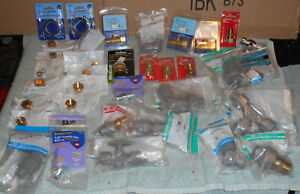 Large Lot Of Misc And Odd Ball Plumbing Parts pipe Fittings Compresion Parts