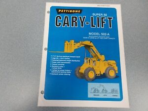 Rare Pettibone Cary Lift Super 50 Sales Sheet