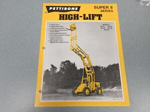 Rare Pettibone Super 8 High lift Sales Sheet