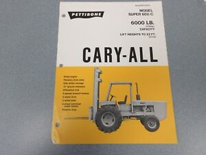 Rare Pettibone Cary All Super 602c Sales Sheet