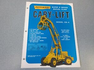Rare Pettibone Cary Lift Super 8 Sales Sheet