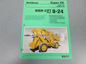 Rare Pettibone Super 8a High lift Sales Sheet