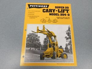 Rare Pettibone Cary Lift Super 20 Sales Sheet