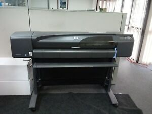 Hp Designjet 800 Ps Large 42 Printer Plotter New Printheads Ink Cartridges