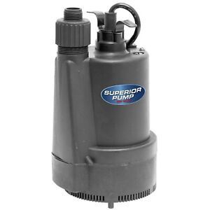 Submersible Utility Pump Thermoplastic Swimming Pool Water Transfer 1 3 Hp