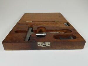 Lufkin Micrometer Depth Gauge With Wood Case Mod 513