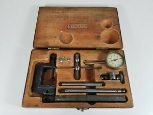 Starrett 196 Dial Test Indicator With Wooden Case