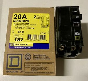 Brand New In Box Square D Qob220vh 20a 240v 2p Free Same Day Shipping