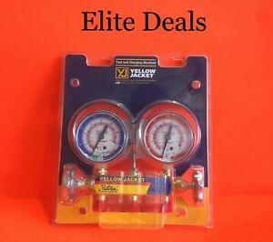 New Yellow Jacket 41712 Manifold Only 2 valve R410a 2 5 Gauges No Hoses