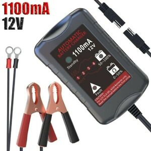 Lst Trickle Battery Charger Motorcycle Atv Car Maintainer Sla Agm Gel 12v 1100ma