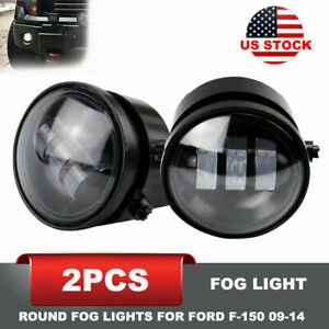 For 2009 2014 Ford F 150 4inch Round Fog Lights 2pcs 30w Led Fog Lamp Smoke Lens
