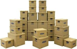 Bankers Box Moving Kit Boxes Tape free 20 Small 5 Medium 5 Large 30 Pack
