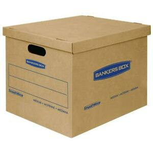 Bankers Box Smoothmove Moving Boxes Tape free Medium 18 X 15 X 14 Inches 8 Pack