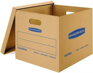 Bankers Box Smoothmove Moving Boxes Tape free Medium 18 X 15 X 14 Inches 10 Pack