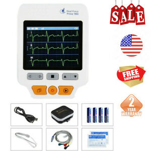 Portable Heal Force Color Ecg Ekg Monitor lead Cables 50pcs Electrodes Health