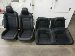 2018 2019 Ford Mustang Gt Black Leather Front Rear Seats Heated Cooled Oem