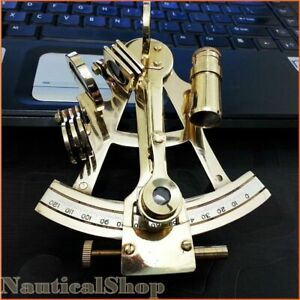 4 Solid Brass Sextant Nautical Marine Instrument Astrolabe Ships Maritime Gift