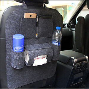 Auto Car Seat Back Multi Pocket Storage Bag Organizer Holder Supply Black
