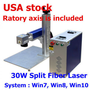 Usa 30w Split Fiber Laser Marking Engraving Machine Ratory Axis Include