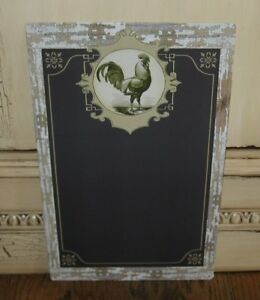 Rooster Chalkboard Message Board Sign Primitive Farmhouse French Country Decor