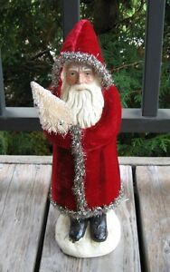 Belsnickle Red Santa Tree Primitive French Country Christmas Farmhouse Decor