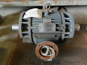 Reliance Electric Motor 1 25 Hp 565 Rpm 230 460 V 215tcz Frame Double Shaft