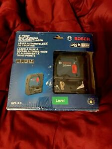 New Bosch 100 Ft Self Leveling 3 Point Laser Level Mounting Strap Gpl 3s