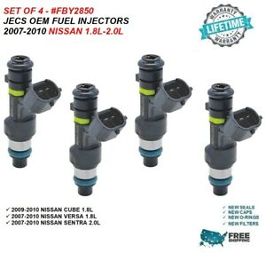 Jecs Oem Fuel Injectors 4x For 2009 2010 Nissan Cube 1 8l Fby2850