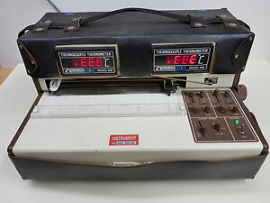 Omega Dual Pen Flatbed Strip Chart Recorder Rd 1202 read