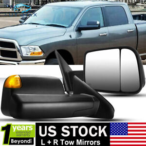 For 02 08 Dodge Ram 1500 03 09 2500 3500 Power Heated 2009 Style 2p Tow Mirrors