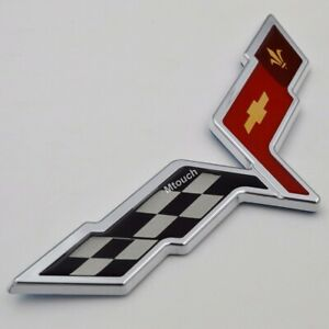 Crossed Flag Rear Trunk Emblem Badge Fit Corvette C6 2005 2013 22901568