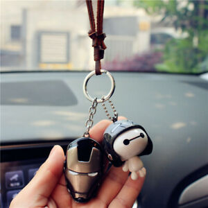 Cartoon Car Rearview Mirror Pendant Interior Decor Accessorie S Hanging Ornament
