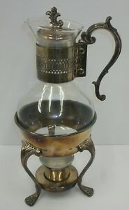 Vintage Fb Rogers Silver Plate 1883 Tea Coffee Warmer Carafe Set