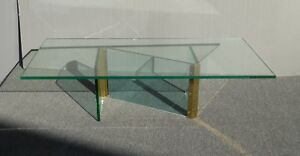 Vintage Mid Century Modern Leon Rosen For Pace Z Shaped Coffee Table Rectangle