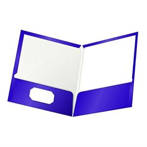 Oxford Laminated Twin pocket Folders Letter Size Purple Holds 100 Sheets Bo