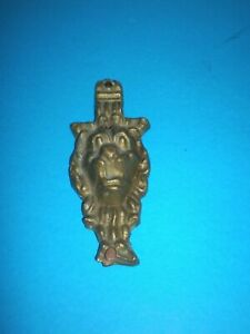 Antique Greek Bronze Plaque Figure With A Lion S Head Of The 19th Century