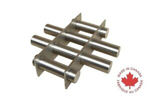Industrial 8 Round Magnetic Hopper Grate With Rare Earth Magnets