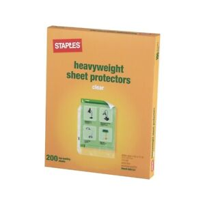 Staples Heavyweight Presentation Sheet Protectors 200 pack 612997
