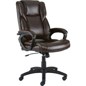 Staples Kelburne Luxura Office Chair Brown 2554454