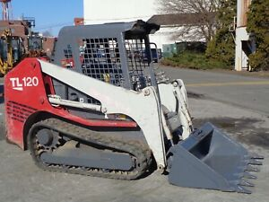Takeuchi Tl120 Skid Steer Track Loader High Flow Only 494 Hours Diesel