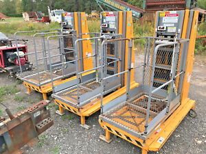 Lot Of 3 Bil jax Xlt 1571 Workforce Personal Manlifts Electric Manlift