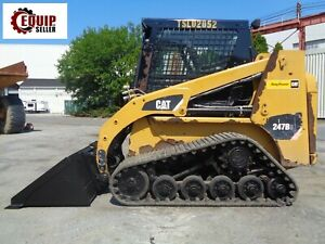 2014 Cat 247b3 Skid Steer Loader Enclosed Cab Heat ac