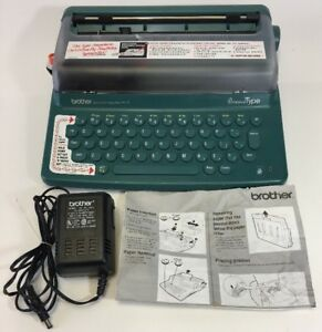 Brother Py 75 Portable Personal Type Electronic Typewriter Retro read Needs Ink