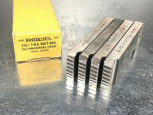 Ridgid 1 1 8 7 Bolt Dies For Universal Head