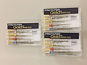 3 X Dentsply Protaper Gold Files Assorted Sx f3 25mm